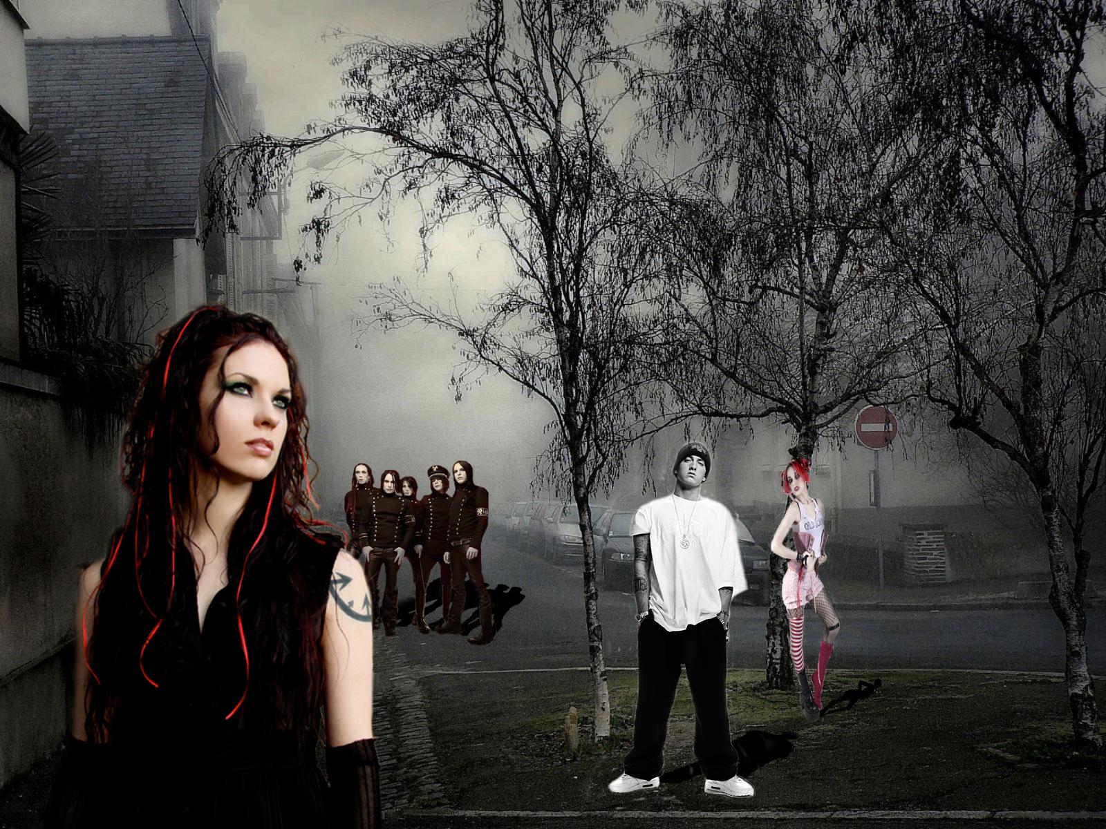 Скачать обои фото картинку на тему туман, машины, деревья, разширение