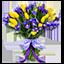 Букет: Букет цветов из тюльпанов и лаванды - Причина вручения: